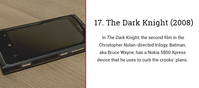 the dark knight cell phone