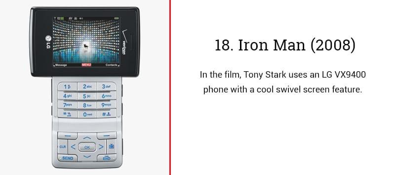 iron man cell phone