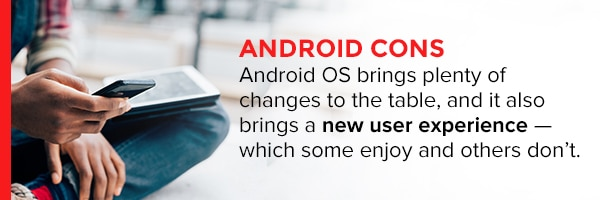 Android Cons
