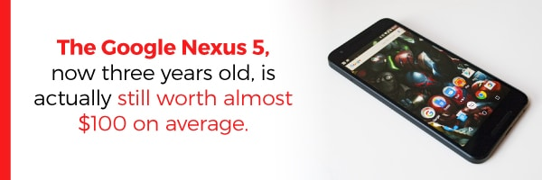 Google Nexux 5 Still Worth 100 Dollars Today