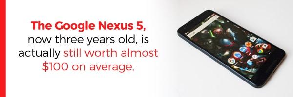 Google Nexux 5 Still Worth 100 Dollars Today