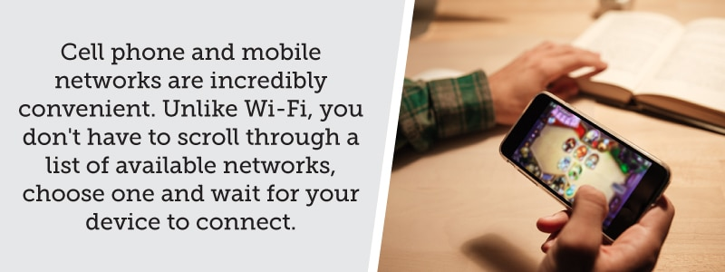 Mobile networks are more convenient than Wi-Fi right now