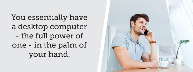 A Desktop Computer's Power in the Palm of Your Hand