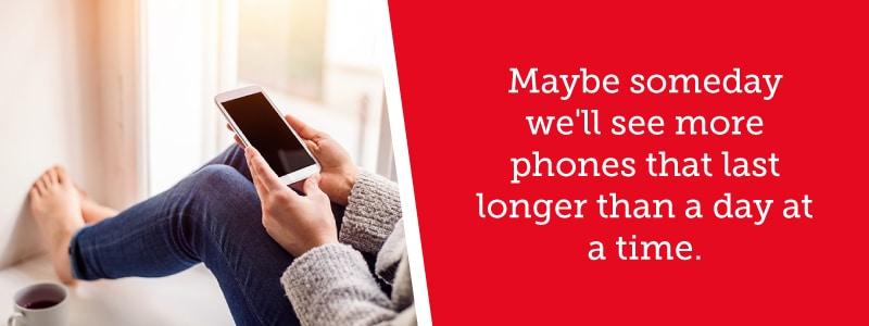 Future smartphones may last longer