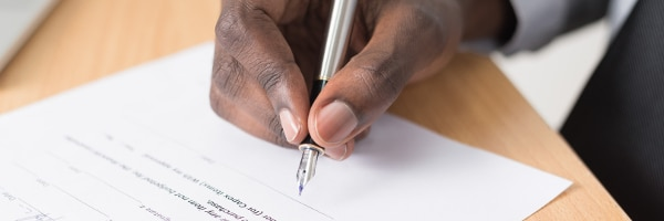 Contract Signature - Owe Money