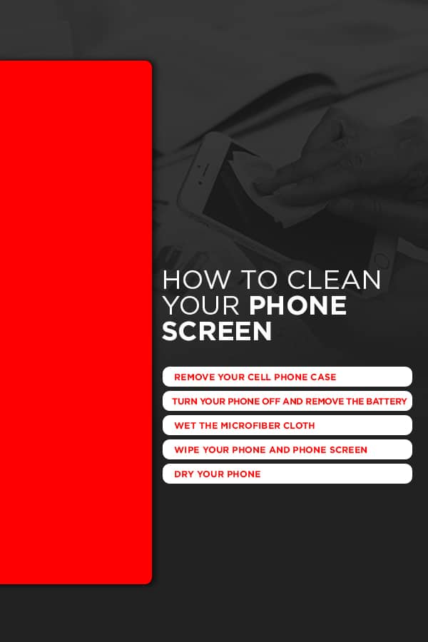 How to Clean Your Phone Screen