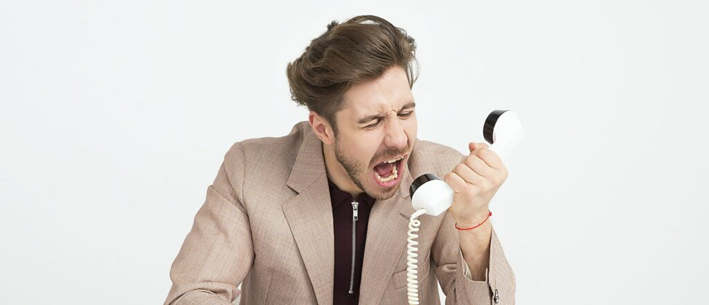 Angry Phone Call Spam